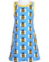 Maxomorra Träger-Kleid HUMBLE BUMBLEBEE blau GOTS M540-C3343