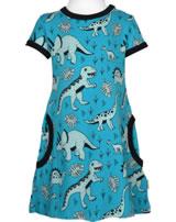 Meyadey Dress shortsleeve DINO FOREST blue GOTS D3391-M355