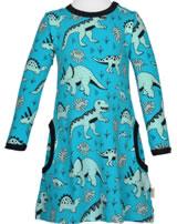 Meyadey Dress longsleeve DINO FOREST blue GOTS D3391-M436