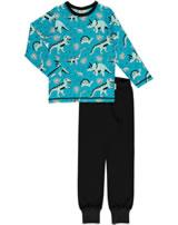 Meyadey Pyjama long sleeve DINO FOREST blue GOTS D3391-M437