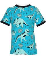 Meyadey T-Shirt shortsleeve DINO FOREST blue GOTS D3391-M468