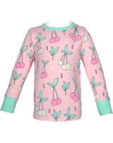 Meyadey T-Shirt longsleeve CHERRY KISS pink GOTS D3390-M467