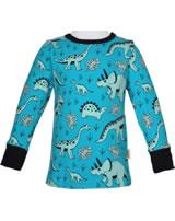 Meyadey T-Shirt longsleeve DINO FOREST blue GOTS D3391-M467