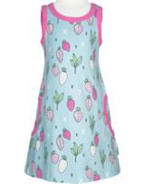Meyadey Träger-Kleid STRAWBERRY FIELDS blau GOTS D3400-M540