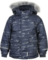 Minymo Snow jacket with hood HERRINGBO 8000mm ombre blue 160420-7470