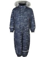Minymo Snowsuit GAM 23 HERRINGBONE 8000mm ombre blue 160422-7470