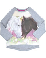 Miss Melody Sweatshirt long sleeve white and brown horse grey 84037-217