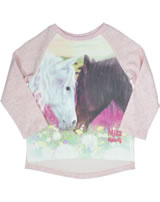 Miss Melody sweatshirt manches longes cheval blanc et brun rose 84032-923