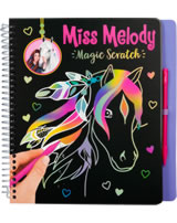 Miss Melody Malbuch Magic Scratch lila