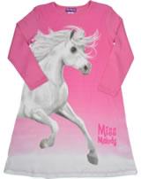 Miss Melody Nachthemd Langarm weißes Traumpferd azalea pink 98890-821