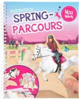 Miss Melody jump course coloring and handcraft work book