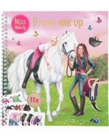 Miss Melody sticker book Dress me up Jella & Sienna