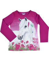 Miss Melody T-shirt manches longes cheval blanc festival fuchsia 84058-876