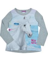 Miss Melody T-shirt long sleeve TRAUMPFERD light grey melange 84085-217-