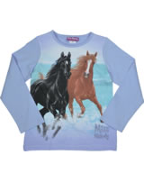 Miss Melody T-shirt long sleeve two HORSES black & brown serennitenity 84081-718