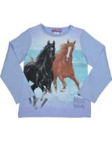 Miss Melody T-Shirt Langarm zwei Pferde schwarz & braun serennitenity 84081-718