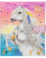 Miss Melody Tagebuch mit Geheimcode Weißes Pferd