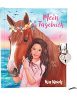 Miss Melody Tagebuch mit Stickern Lily und Pelly