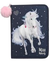 Miss Melody XXL Federtasche gefüllt dunkelblau