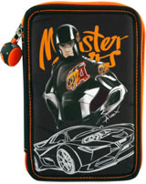 Monster Cars pencil case with filling Alex