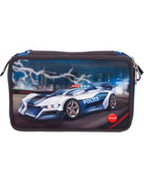 Monster Cars pencil case with filling with LED Police