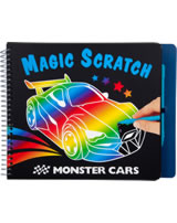 Monster Cars coloring book Magic Scratch