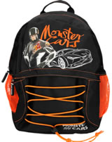 Monster Cars backpack black
