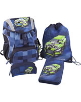 Monster Cars backpack Set 4 pieces