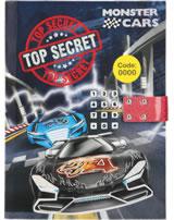 Monster Cars Tagebuch mit Geheimcode und Sound