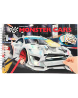 Monster Cars Pocket colouring book Create your Monster Cars with sticker