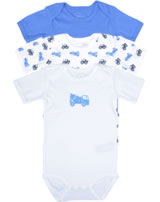 name it Baby Body 3er Set Kurzarm NOOS Fahrzeuge regatta/blau 13125649
