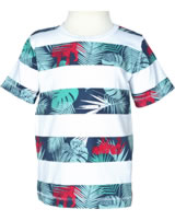 name it T-Shirt Kurzarm NITGILBERT JUNGLE bright white Streifen 13140683