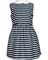 name it Festkleid m. Bubi-Kragen NMFERHARIA dark sapphire stripes 13150601