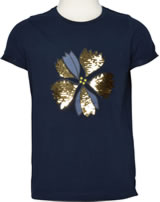 name it T-Shirt Kurzarm NKFFENJA Blume dark sapphire 13155122