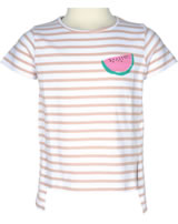 name it T-Shirt Kurzarm NKFVIA Streifen Melone peachy keen 13153853