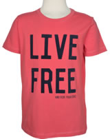 name it T-Shirt Kurzarm NKMHILMER LIVE FREE spiced coral 13151047