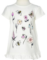 name it T-Shirt Kurzarm NMFFABELLA Blumen snow white 13151420