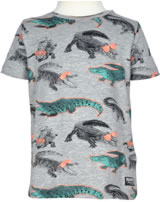 name it T-Shirt Kurzarm NMMDEDILLE Krokodile grey melange 13153557