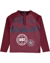 name it T-Shirt Raglan Langarm NITVALDE brick red 13145980