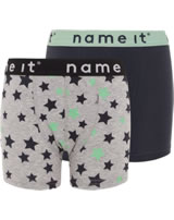 name it Unterhosen Boxer-Shorts 2er Pack NKMBOXER NOOS grey melange 13163578