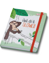 Nici Notizbuch Hardcover Faultier Hang Gang Just do it slowly