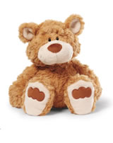 Nici Plush bear Big brother 35 cm dangling light brown