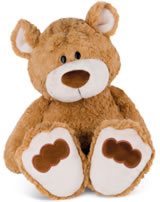Nici Plush bear Big brother 80 cm dangling light brown