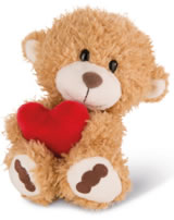 Nici plush Love Bear light brown with heart 20 cm dangling