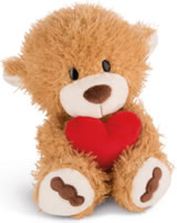 Nici plush Love Bear light brown with heart 30 cm dangling