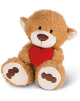 Nici plush Love Bear light brown with heart 70 cm dangling