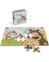 Nici Puzzle DIN A4 Forest Friends Grizzlybär und Igel