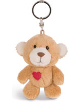 Nici Key Ring Love Bear light brown with heart