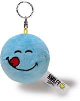 Nici Schlüsselanhänger Smiley mit Wendemotiv blau/gelb Plüsch