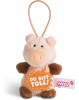 Nici Schwein Du bist toll 8 cm mit Loop Message to go